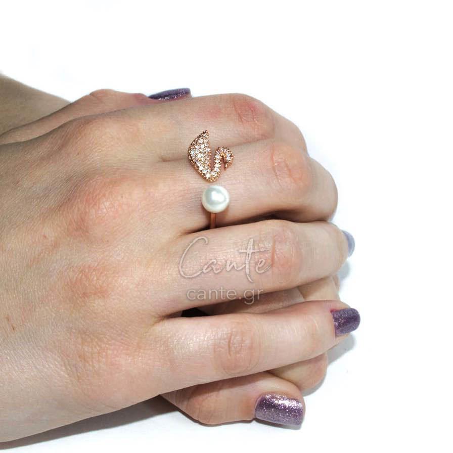 Δαχτυλίδι Με Σχέδιο Κύκνο