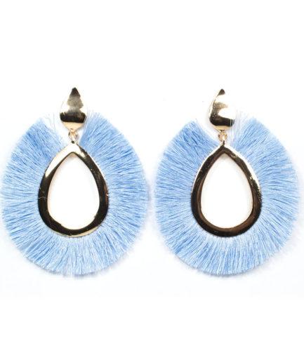Γυναικεία Σκουλαρίκια Δάκρυ Γαλάζια