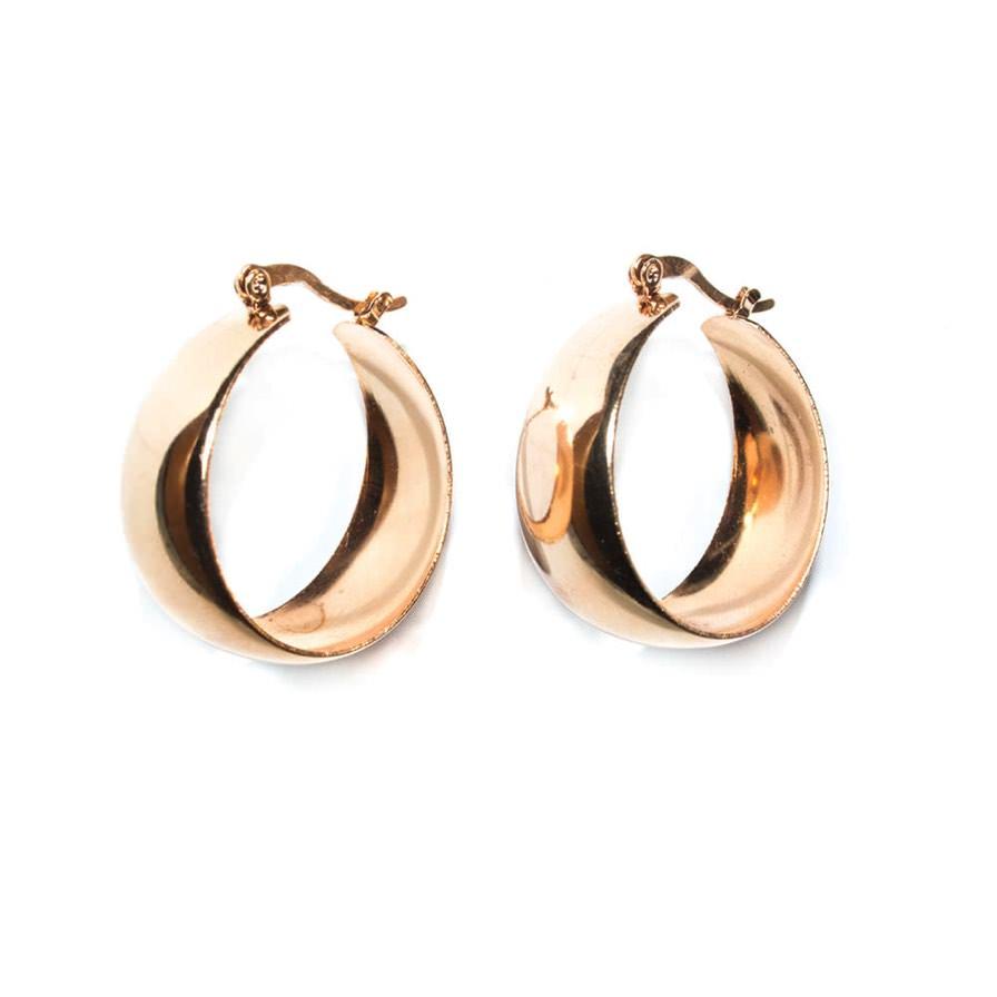 Γυναικεία Σκουλαρίκια Hoops Ροζ-Χρυσό