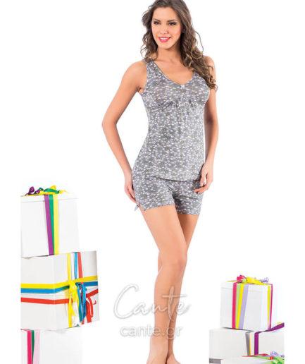 Γυναικείες Πυτζάμες Με Χοντρή Τιράντα Φλοράλ