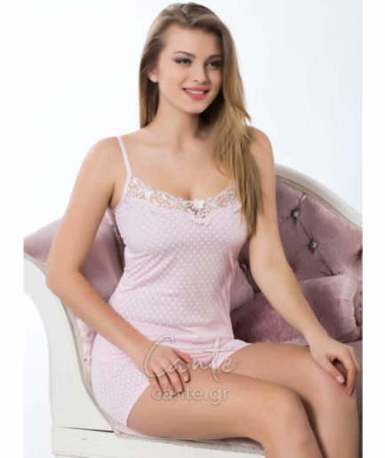 Γυναικείο Πυτζάμα Τιραντέ Ροζ