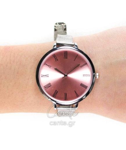 Γυναικείο Ρολόι Bracelet Ασημί