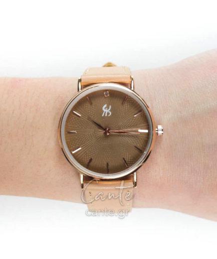 Γυναικείο Ρολόι Με Λουράκι Ροζ