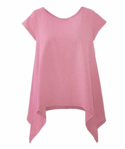 Γυναικεία Μπλούζα Με Μύτες Ροζ
