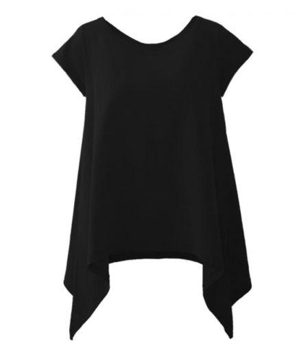Γυναικεία Μπλούζα Με Μύτες Μαύρη