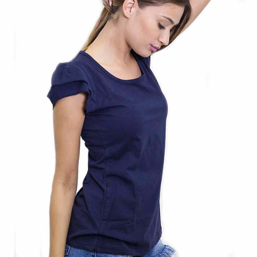 Γυναικεία Μπλούζα Με Φραμπαλά Μπλε