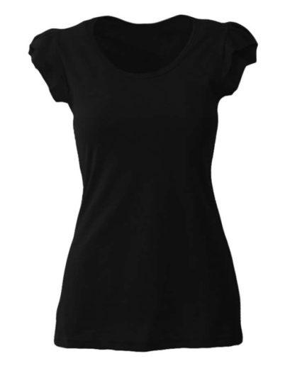 Γυναικεία Μπλούζα Με Φραμπαλά Μαύρη