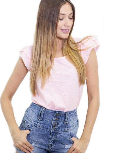 Γυναικεία Μπλούζα Με Φραμπαλά Άσπρη