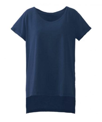 Γυναικεία Μπλούζα Ασύμμετρη Μπλε