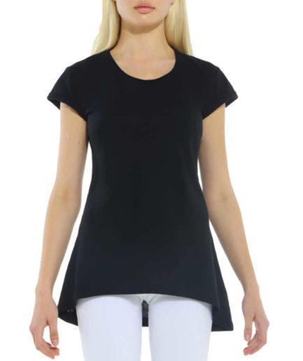 Γυναικεία Μπλούζα Ασύμμετρη Μαύρη