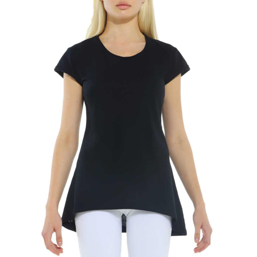 Γυναικεία Μπλούζα Ασύμμετρη Μαύρη - Γυναικείες Μπλούζες - Cante bf158031abe
