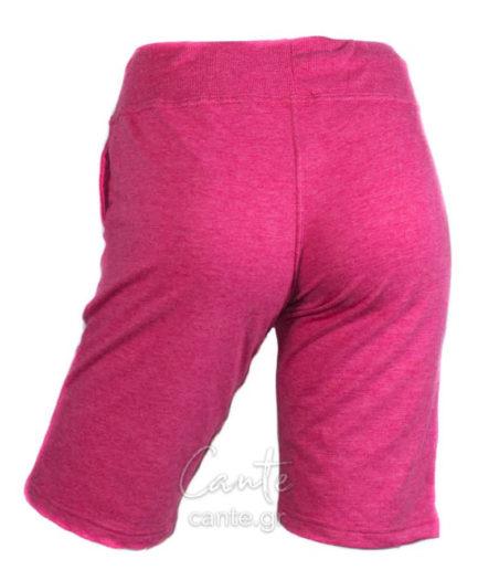 Γυναικεία Βερμούδα Φούτερ Με Τσέπες Ροζ