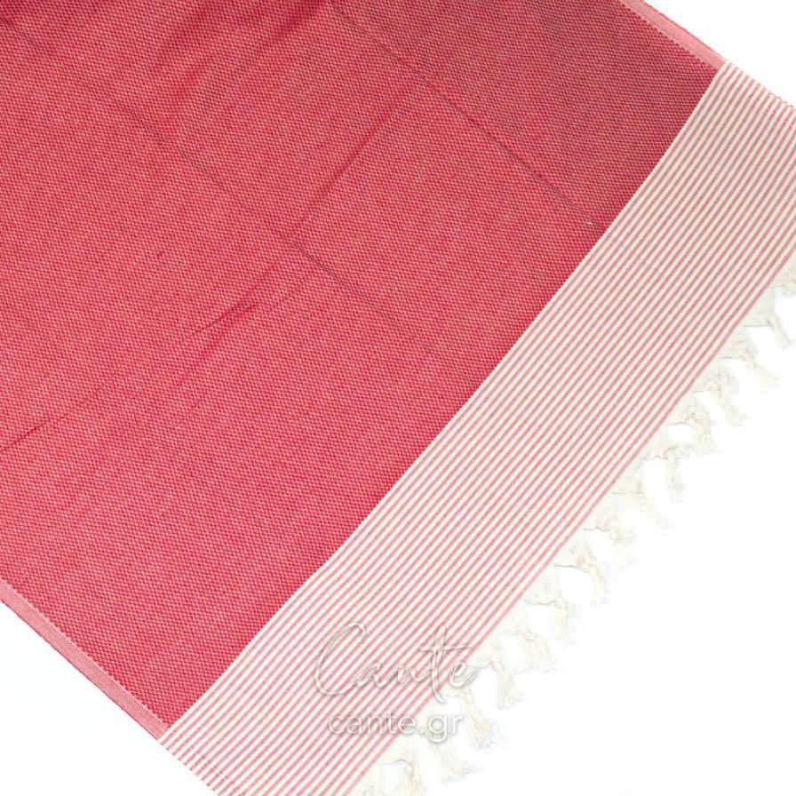 Πετσέτα Θαλάσσης Pestemal Κόκκινο