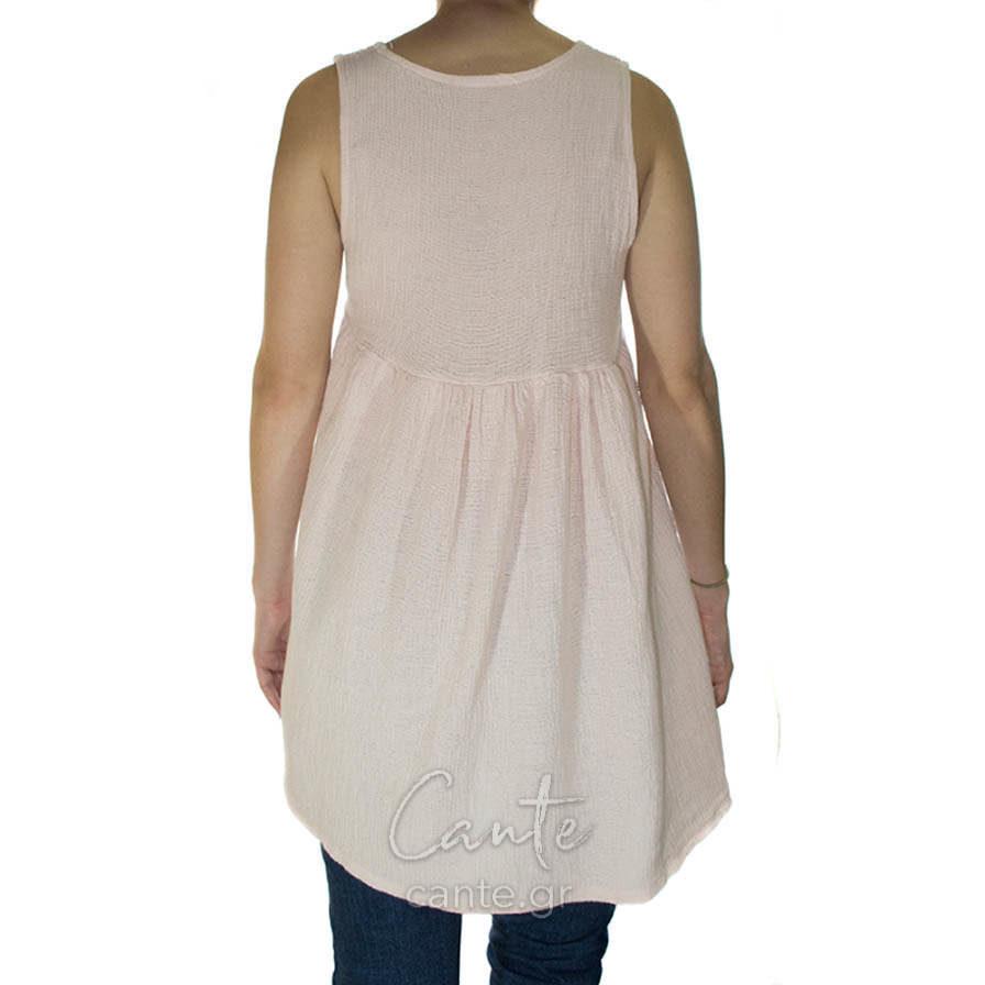 Γυναικεία Μπλούζα Αμάνικη Ροζ