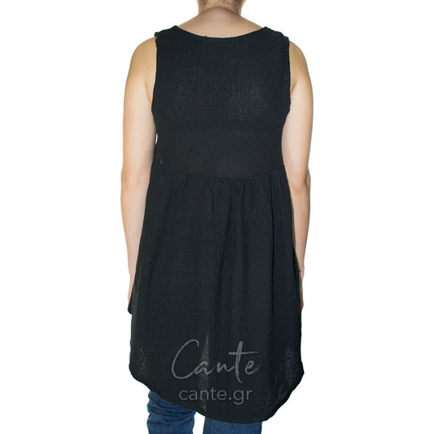 Γυναικεία Μπλούζα Αμάνικη Μαύρη