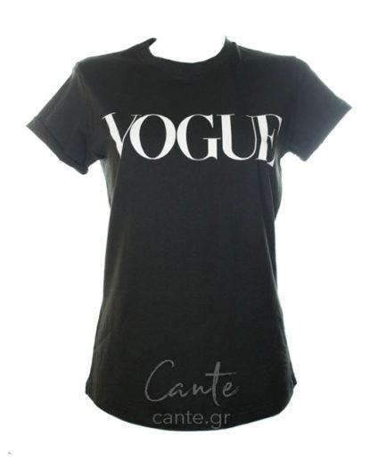 Γυναικείο T-Shirt Vogue Μαύρο