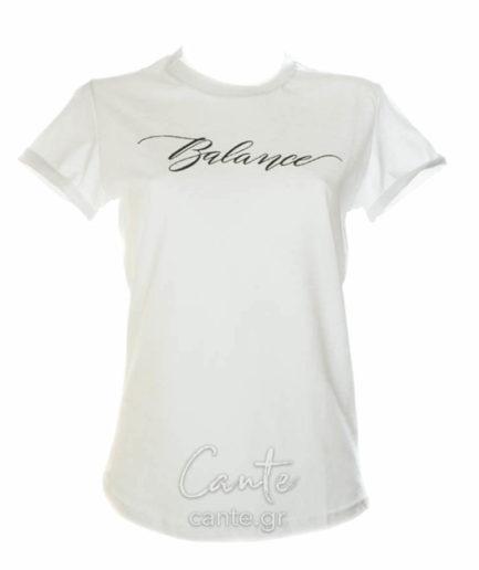 Γυναικείο T-Shirt Balance Άσπρο