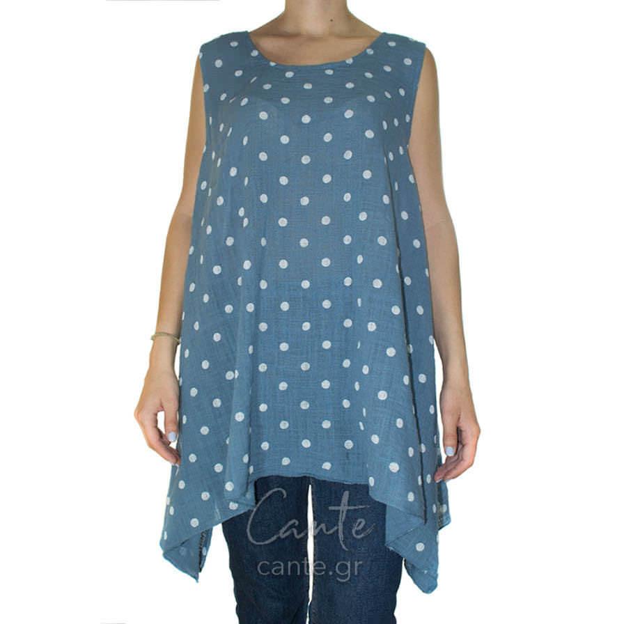 Γυναικεία Μπλούζα Τιραντέ Πουα Μπλε - Γυναικεία Μπλουζάκια - Cante a761ced65f7