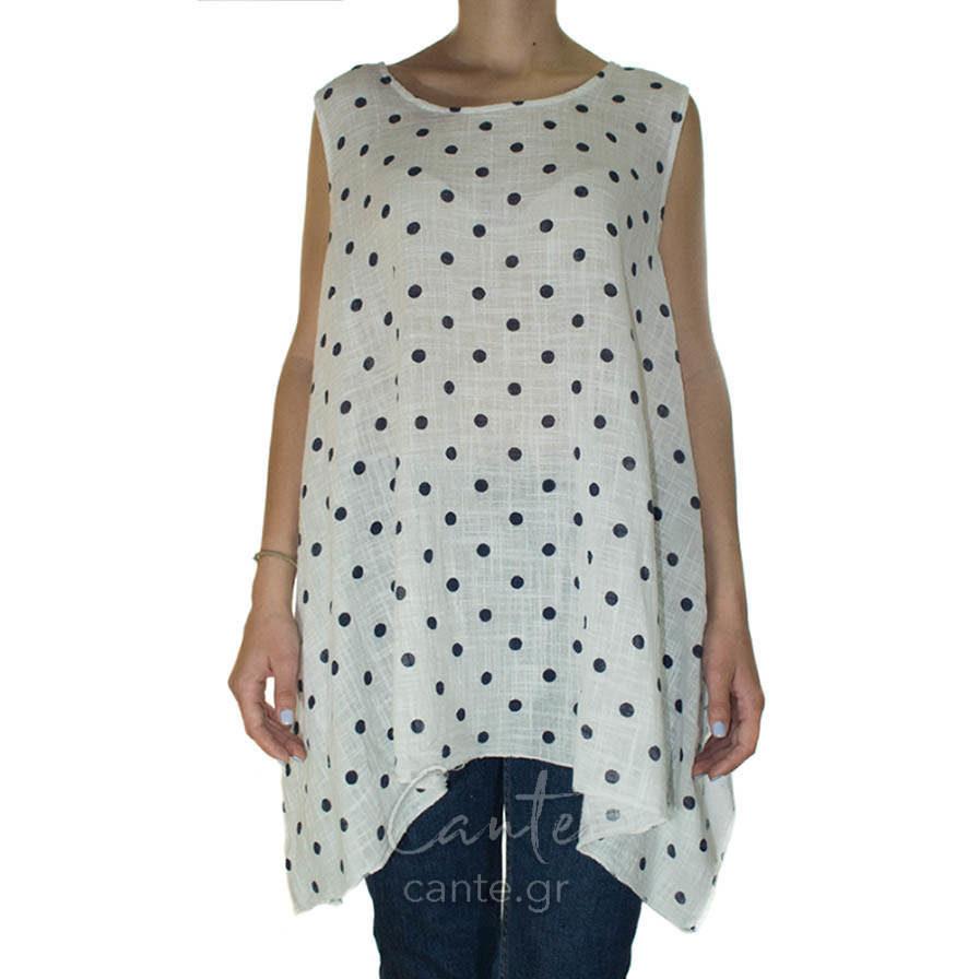 Γυναικεία Μπλούζα Τιραντέ Πουα Άσπρη - Γυναικεία Μπλουζάκια - Cante a133c974b3a
