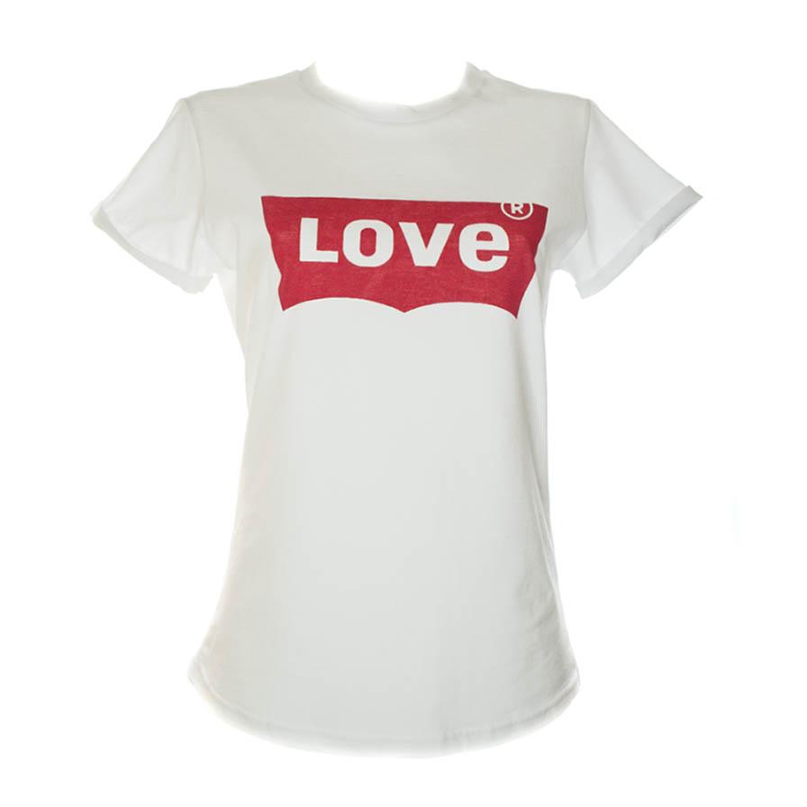 Γυναικείο T-Shirt Love Άσπρο