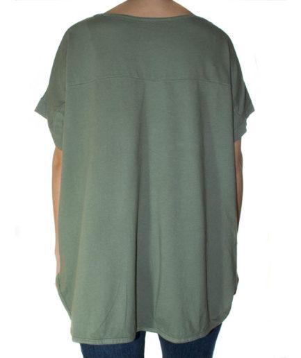 Γυναικεία Μπλούζα Λινή Χακί