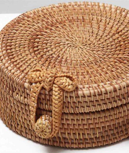 Γυναικεία Τσάντα Στρογγυλή Μπαμπού