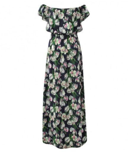 Γυναικείο Φόρεμα Φλοράλ Μπλε