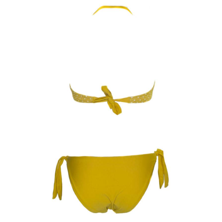 Γυναικείο Μαγιό Μπικίνι Πουά Κίτρινο