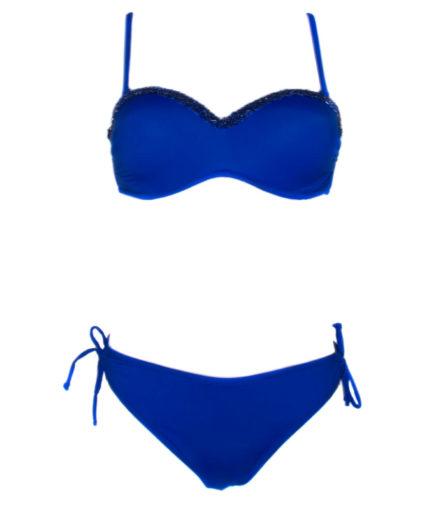 Γυναικείο Μαγιό Μπικίνι Με Στρας Μπλε