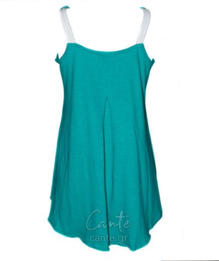 Γυναικεία Μπλούζα Ασύμμετρη Τιραντέ Πράσινη