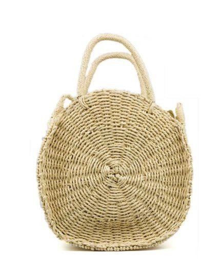 Γυναικεία Τσάντα Ψάθινη Στρόγγυλη