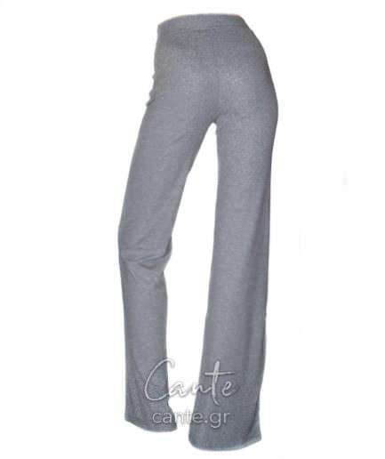 Γυναικεία Παντελόνα Ψηλόμεση Γκρι - Ασημί