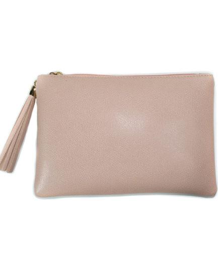 Γυναικεία Δερμάτινη Τσάντα Χειρός Ροζ - Γυναικείες Τσάντες