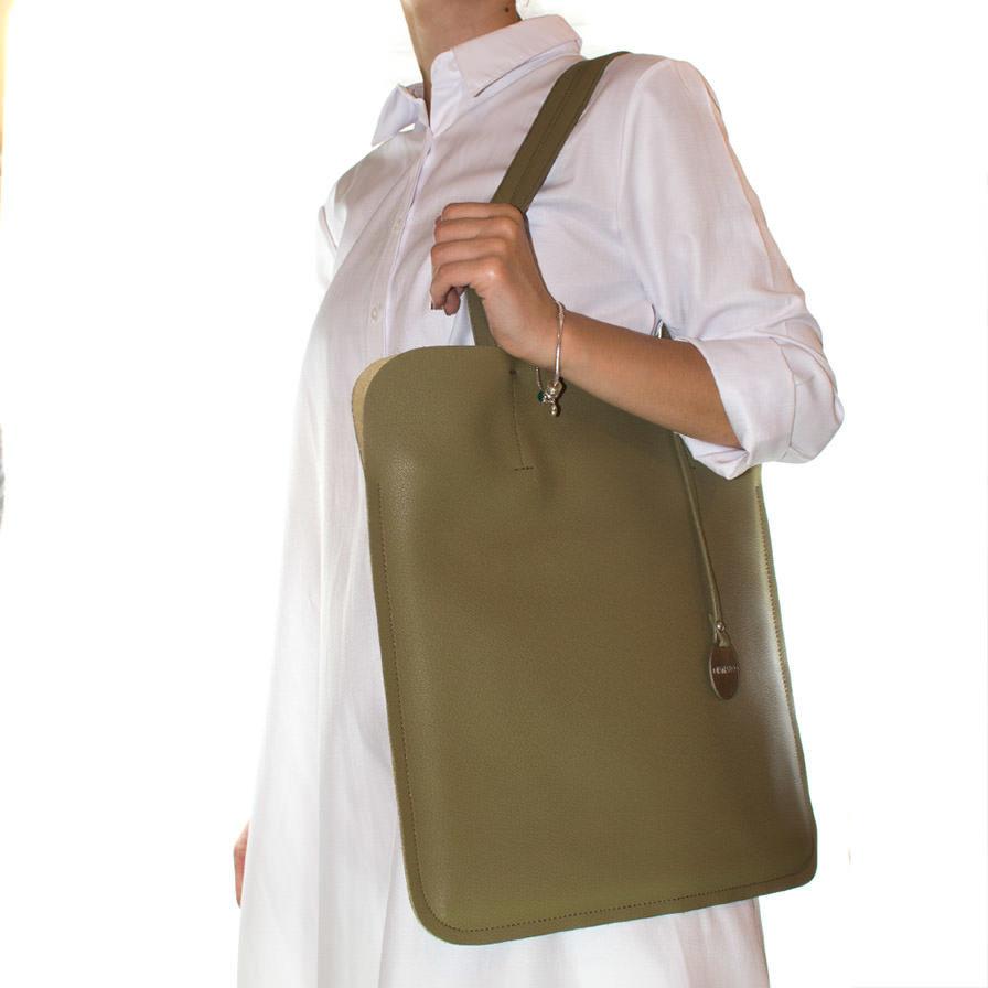 Γυναικεία Τσάντα Ώμου Λαδί - Γυναικείες Τσάντες