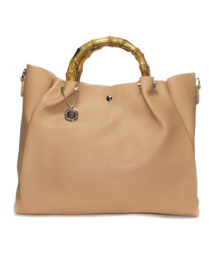 Γυναικεία Τσάντα Ώμου Μπεζ - Γυναικείες Τσάντες