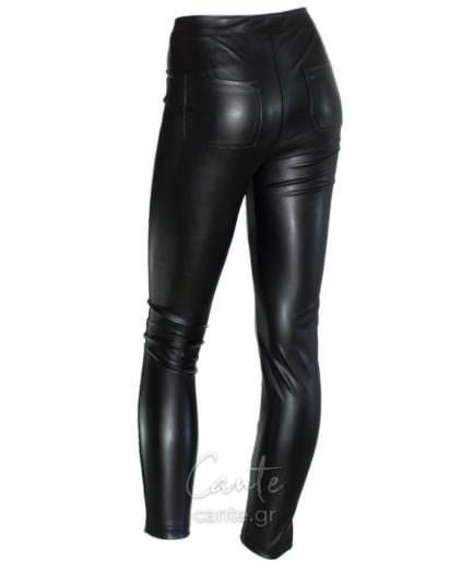 Γυναικείο Κολάν Δερματίνη Μαύρο