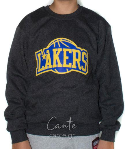Παιδικό Φούτερ Lakers Ανθρακί