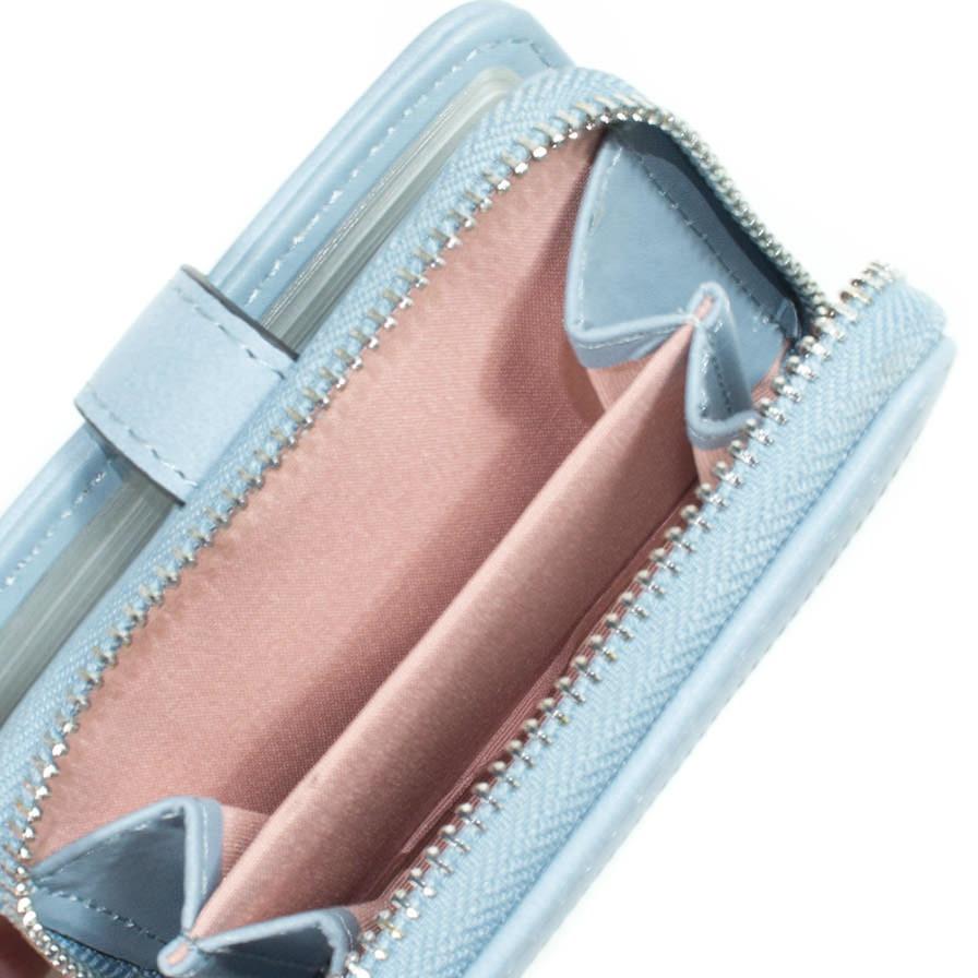 Γυναικείο Πορτοφόλι Διάτρητο Γαλάζιο