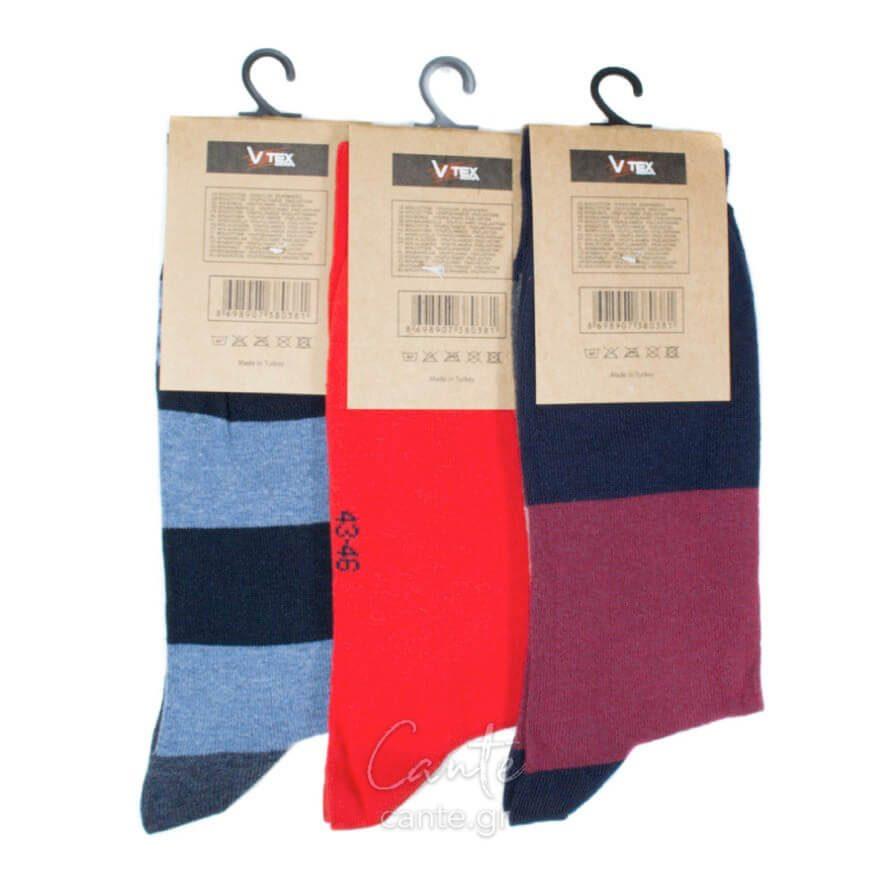 Σετ Ανδρικές Κάλτσες Ψηλές Με Σχέδιο - Ανδρικές Κάλτσες - Cante b398aef72c2