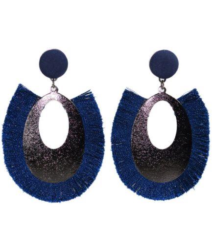 Γυναικεία Σκουλαρίκια Δάκρυ Μπλε