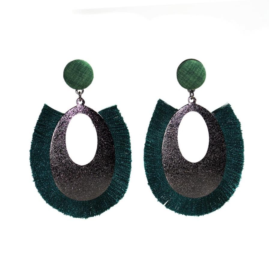 Γυναικεία Σκουλαρίκια Δάκρυ Πράσινο