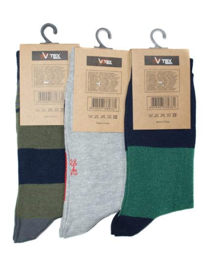 Σετ Ανδρικές Κάλτσες Ψηλές Με Σχέδιο