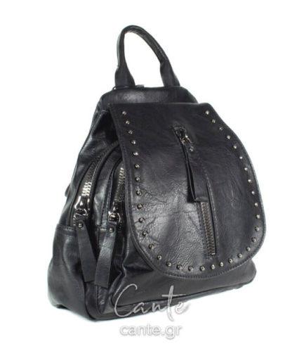 Γυναικεία Τσάντα Backpack Με Τρουκς