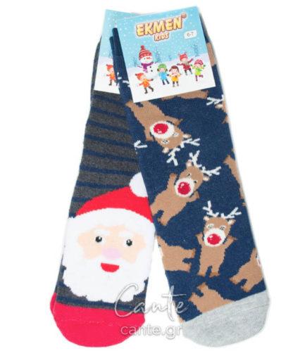 Σετ Χριστουγεννιάτικες Κάλτσες Παιδικές Πετσετέ
