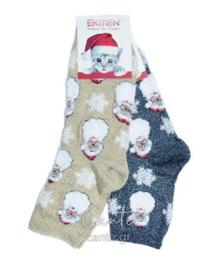 Σετ Γυναικείες Κάλτσες Ψηλές Χριστουγεννιάτικες