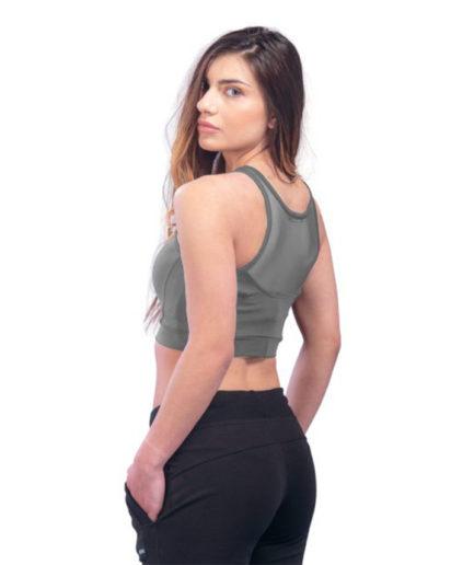 Γυναικείο Μπουστάκι Με Διαφάνεια Γκρι