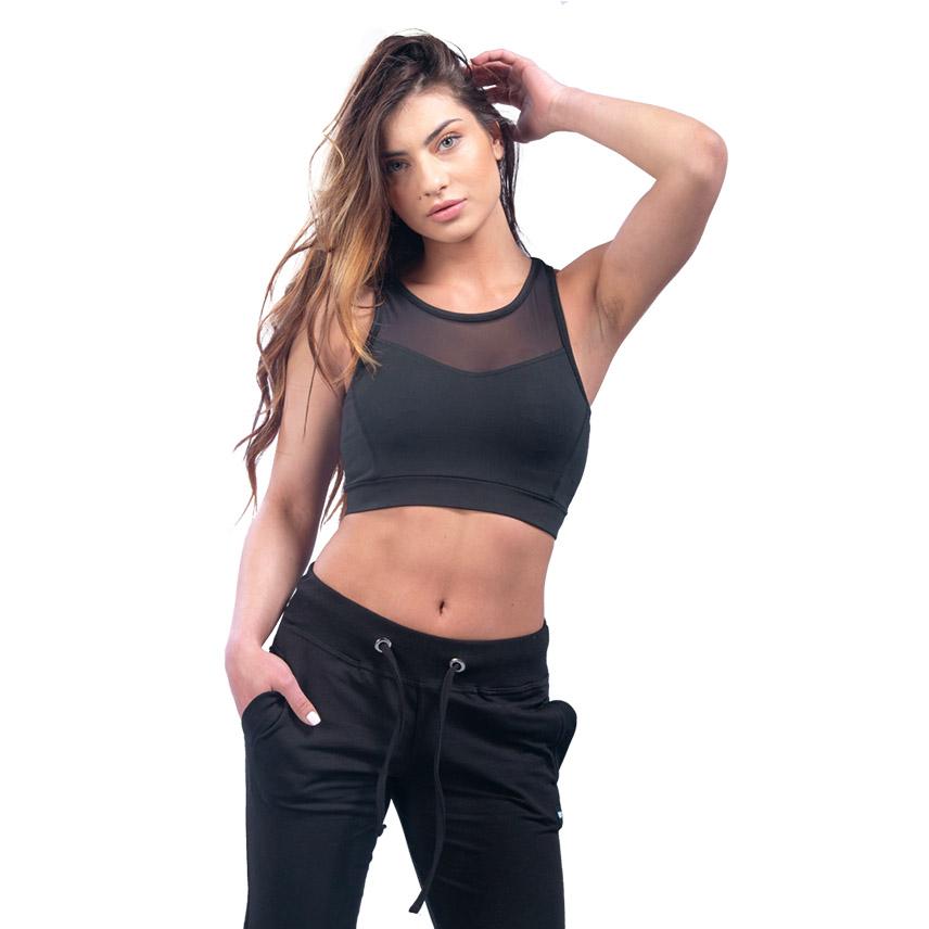 Γυναικείο Μπουστάκι Με Διαφάνεια Μαύρο