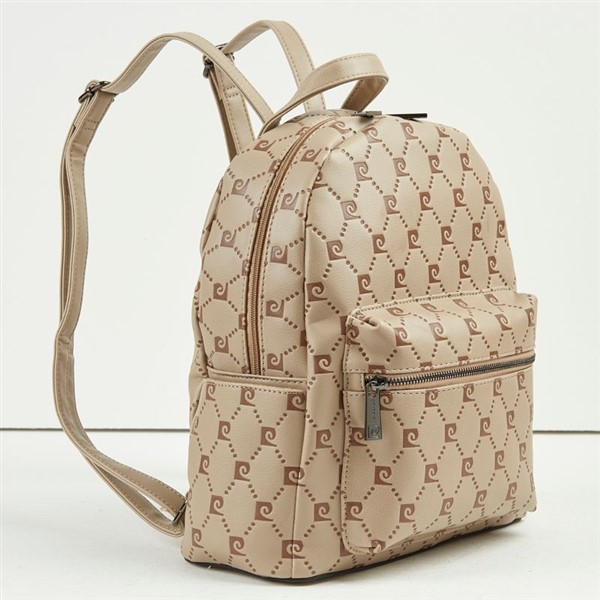 Γυναικεία Τσάντα Backpack Pierre Cardin Mε Λογότυπο Μπεζ