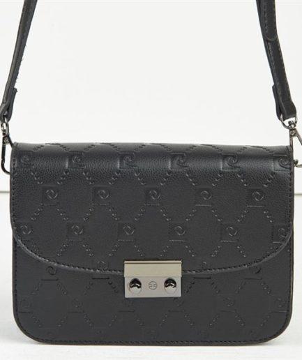 1701660470 Γυναικεία Τσάντα Ώμου Pierre Cardin Με Λογότυπο Μαύρη ...