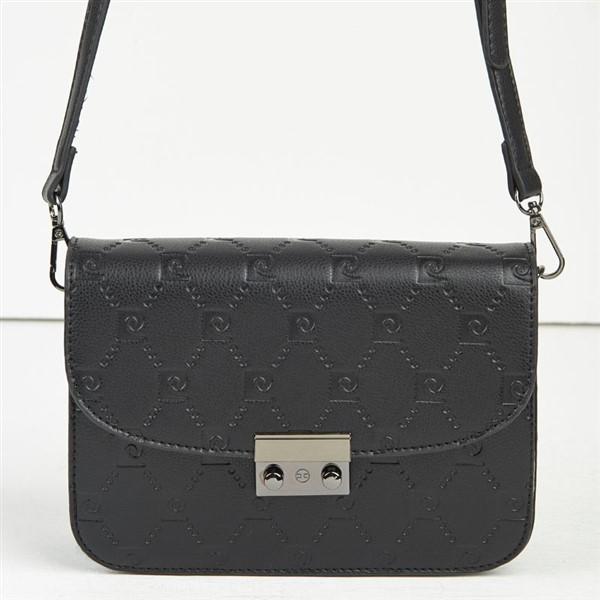 Γυναικεία Τσάντα Ώμου Pierre Cardin Με Λογότυπο Μαύρη